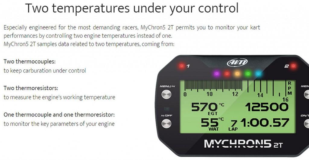 Mychron5 2T Kart Racing Datalogger